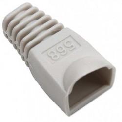 Confez. 10 Copriconnettori per Plug Copriconnettore RJ45 grigio chiaro