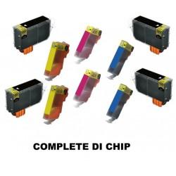 CARTUCCIA COMPATIBILE HP 364 XL KIT 10 COLORI (4xBK 2xC 2xM 2xY)