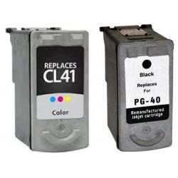 CARTUCCIA RIGENERATA COMPATIBILE CANON PG-40+CL-41 Nero+Colori