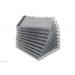 CUSTODIA PER CD DVD JEWEL BOX CASE CONFEZIONE 10 PEZZI