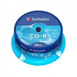 CD-R VERBATIM 52x 700mb 80min. confezione da  25
