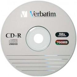 CD-R VERBATIM 52x 700mb 80min. confezione da 100