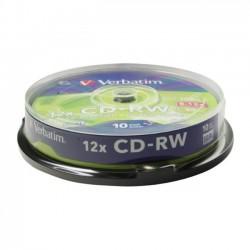 CD-RW VERBATIM Riscrivibili 12x 700MB 80MIN. confezione da 10