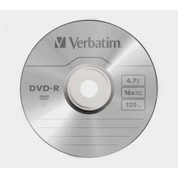 DVD-R VERBATIM 16x 4.7GB 120MIN. confezione da 100