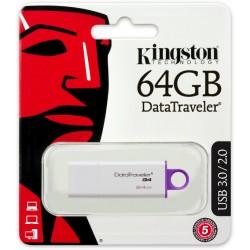 MEMORIA FLASH PEN DRIVE DATA TRAVELER USB 3.0 64GB KINGSTON DTIG4/64GB