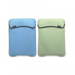 "CUSTODIA SLEEVE PER NETBOOK TABLET IPAD 7""- 9.7"" SECOND SKIN REVERSIBILE DOUBLE FACE VERDE/AZZURRO"
