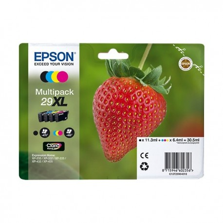MULTIPACK ORIGINALE EPSON 29 XL serie Fragola 4 COLORI  	 	C13T29964010