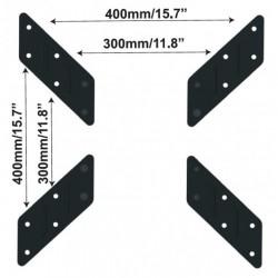 Adattatore Universale per Supporto VESA da 200x200 a 300x300 o 400x400, colore Nero