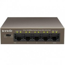 Switch Desktop 5 Porte 10/100 con 4 Porte PoE Tenda TEF1105P