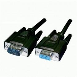 CAVO MONITOR VGA/SVGA/XGA PROLUNGA M/F 7,5 mt NERO Standard